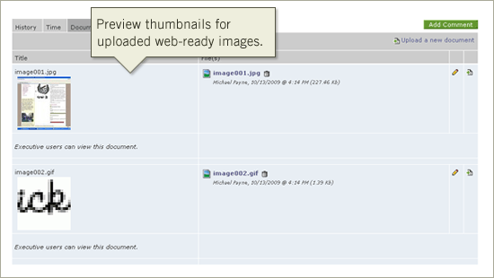 Intervals Project Management Software Update: Thumbnail Previews for Image Uploads