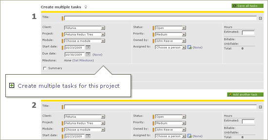Intervals Project Management Software Update: Create Multiple Tasks at Once