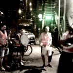 Brass band performing on the streets of Austin, Texas