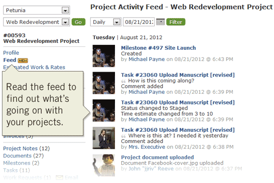 Project Activity Feed for Better Project Management