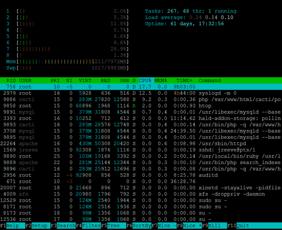 Htop, a Web Developer's Best Friend