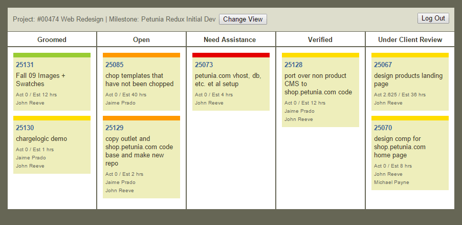 Intervals Online Kanban Board for Agile Task Management