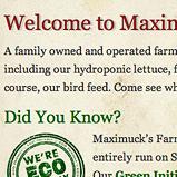 Imbue Creative Showcase | Maximucks Farm Market Web Site