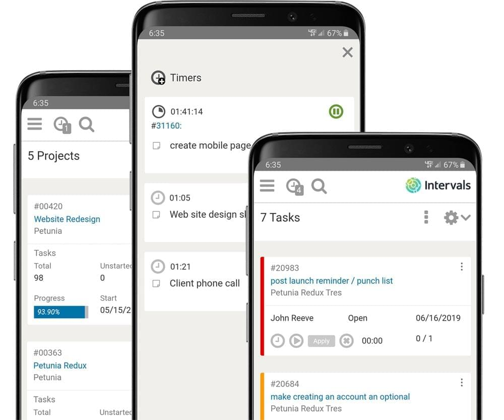 The Intervals Mobile App for Android and iOS
